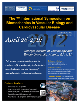 The 7th International Symposium on Biomechanics in Vascular