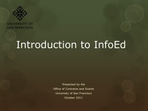 Introduction to InfoEd: A Tutorial