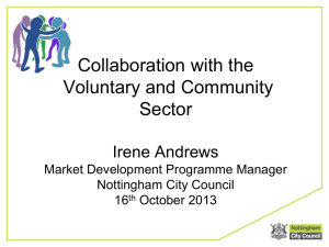 Key messages from Nottingham City Council about collaboration