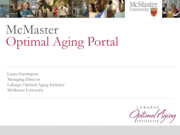 McMaster Optimal Aging Portal - Seniors Secretariat