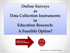 Online surveys as data collection instruments in education
