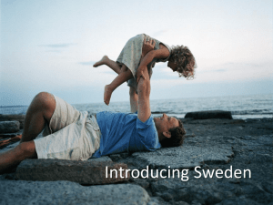 Intro to Sweden