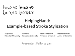 HelpingHand: Example-based Stroke Stylization