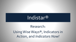 Research - Indistar