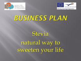 Stevia – Business plan