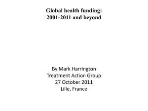 Global health funding, 2001-2011 and beyond