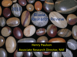 Research Update - National Ataxia Foundation