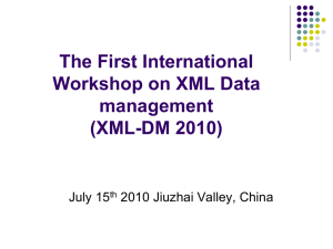XML-DM Workshop