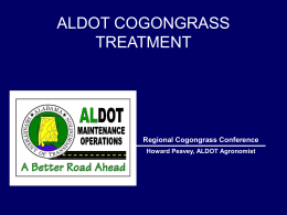 ALDOT COGONGRASS TREATMENT