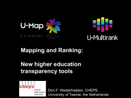 Mapping and Ranking - Council for Higher Education Accreditation