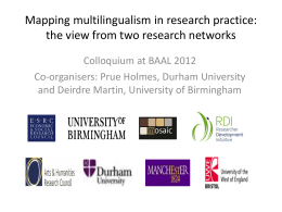 Developing multilingual research practice for new times: a challenge