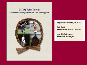 Hepatitis C Guide for Care and Support(Abstract): G. Butt