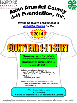 County Fair 4-H T-shirt Design Contest Flyer