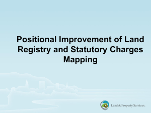 Positional Improvement in Land Registry in Northern Ireland.