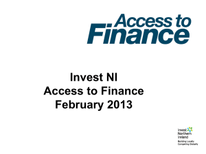 Invest NI Access to Finance February 2013