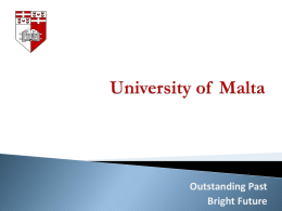 University of Malta richard muscat
