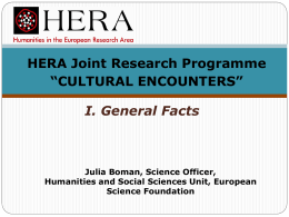 HERA JRP Cultural Encounters Call