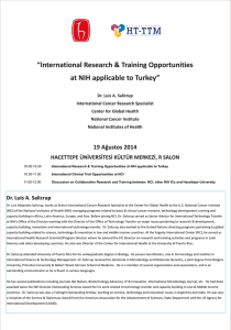 International Research & Training Opportunities at NIH applicable to
