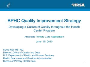 Suma Nair - BPHC QI Strategy for AR PCA