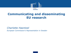 The value of disseminating EU projects according to the