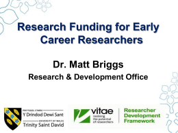 PhD Students: First Grants
