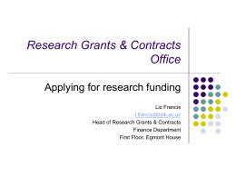 Research Grants & Contract Office