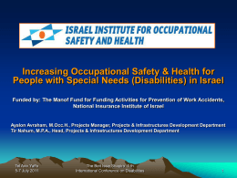Increasing Occupational Safety & Health for People with Special