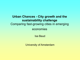 Urban Chances - City growth and the