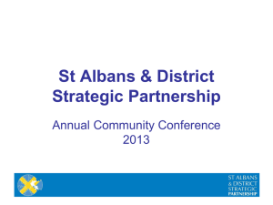 Our Place Our People presentation - St. Albans and District Local