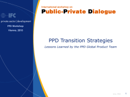 PPD Transition Strategies