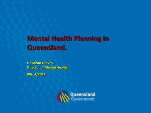 Queensland Mental Health Natural Disaster Recovery Plan 2011-2013
