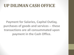 UP DILIMAN CASH OFFICE