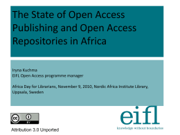 open access repositories - The Nordic Africa Institute