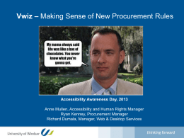 Procurement Wizard - AAD, 2013 edits March 4