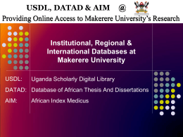 AIM - Makerere University