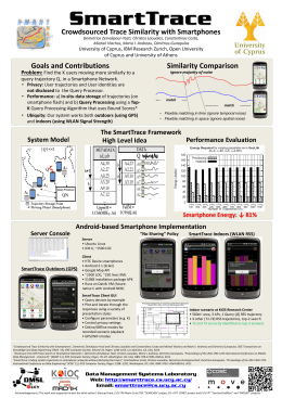 SmartTrace Crowdsourced Trace Similarity with Smartphones