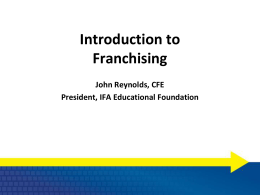 The U.S. Franchise Industry