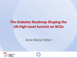 UN Summit on NCDs - The Oxford Health Alliance