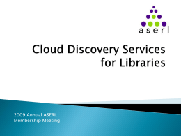 Cloud Discovery Services for Libraries