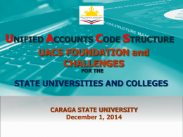UACS Foundation and Challenges for SUCS