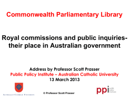 Royal commissions and public inquiries