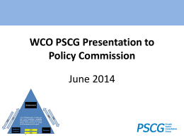 PSCG report to the Policy Commission