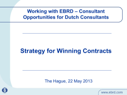 Strategy for Winning EBRD Contracts