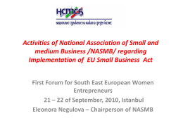 Eleonora Negulova - Regional Cooperation Council