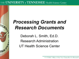 Material Transfer Agreements - The University of Tennessee Health