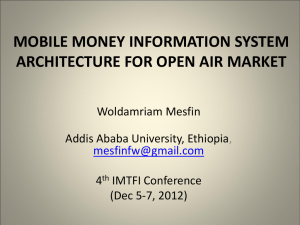 mobile money information system architecture for open air