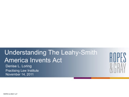 Understanding The Leahy-Smith America Invents Act