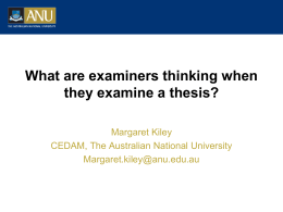What are examiners thinking when they examine a thesis?