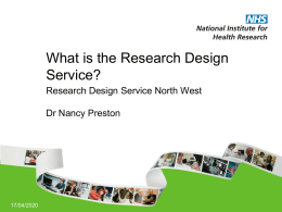 NIHR RDS NW Presentation (May 2012)