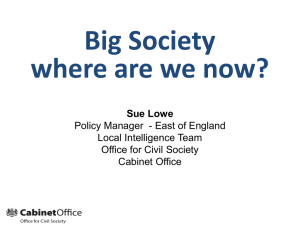 Big Society - Where are we now?